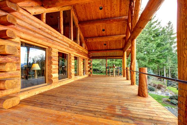 Maison de bois rond