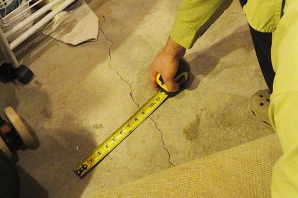 Inspection de fissure de béton